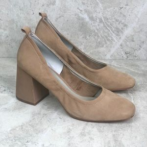 NEW 1. State Madene Leather Tan Block Heel 8.5